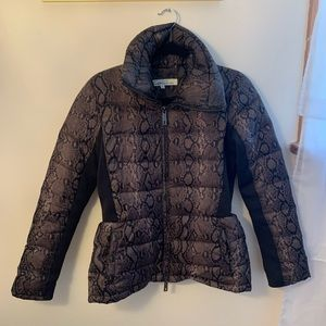 Kenneth Cole Snake Print Down Coat